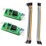 #4: Auslese™ 2 Pcs of IR Proximity Sensor with (6 Pcs Male to Male) and (6 Pcs Male to Female) Connector Wire