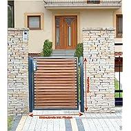 Pforte Holz Gartentor Grau Hoftor Einfahrtstor Tür Tor Törchen 100cm x 100cm