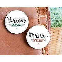 Badge Marraine d'amour - Badge Parrain d'amour | Demande parrain, demande marraine