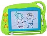 AiTuiTui Pizarra Magnética Infantil, Tamano de Viaje Almohadilla Borrable de Escritura y Dibujo Colorido Magnético Tableta de Dibujo Juguetes educativos para niños 3 4 5 años-Verde