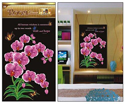 PINDIA Pink Beautiful Flower Wall Sticker