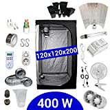 Kit Coltivazione Indoor 400W HPS Adjust-a-Wings - Grow Box 120x120x200 - Alimentatore ETI 1