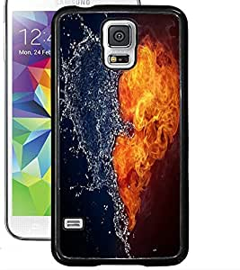 ColourCraft Ice and Water Heart Design Back Case Cover for SAMSUNG GALAXY S5