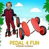 Acrobatico rosso 4 ruote (Pedale Go)