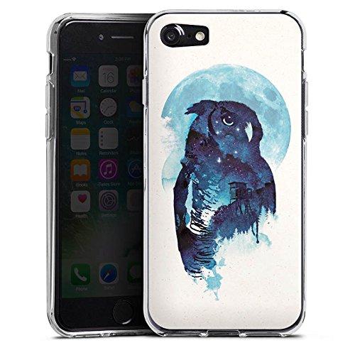 Apple iPhone X Silikon Hülle Case Schutzhülle Eule Nacht Art Silikon Case transparent