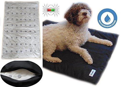 biomagnet24 Magnetfeldmatte für Hunde und Pferde, Magnetfeldtherapie, Hundebett, Hundematte ideal geeignet bei Arthrose, Ellenbogendysplasie, Altersschwäche u.s.w. 98 cm x 70 cm in Anthrazit/Schwarz.