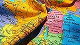 GLOBE Weltkarte drucken 100% Baumwoll-Popeline-Material -
