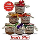 Farm Naturelle- Free Shipping Today-400Gms X 6 Raw Honey.The Finest 100% Pure Raw Natural Honey Varieties-Forest...