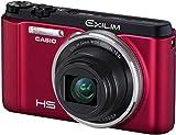 Casio Exilim EX-ZR1000 Digitalkamera (16,1 Megapixel, 7,6 cm (3 Zoll) Schwenkdisplay, 25-fach Multi SR Zoom, HS-Nachtaufnahme ISO 25.600, HDR) rot