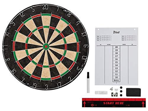 Crivit Dart Profi-Dartscheibe Dartboard Dartscheibe Sisal Keine Dartpfeile enthalten inkl. Montagematerial