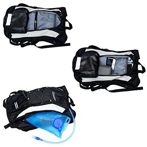 GIMARS Trinkrucksack mit 2L-Trinkblase Wasserdicht Sport Rucksack für Radfahren, Wandern, Laufen, Rennen - 3