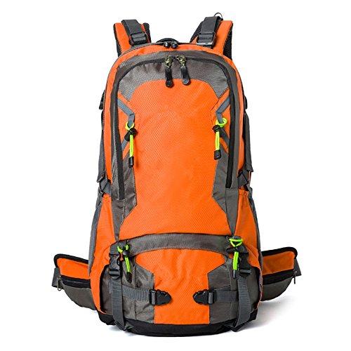 Borsa da viaggio all'aperto uomini e donne borsa a tracolla impermeabile resistente all'usura viaggio zaino da viaggio (40L), verde (50L) Orange (40L)
