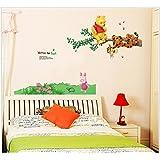 Indian Royals ' Vigny Bear Swing Tigger Kindergarten Children Room' Wall Sticker (PVC Vinyl, 70 Cm X 50 Cm, Decorative Stickers)