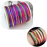 Namgiy cordoncini in cotone cerato gioielli corda colorato stringhe corde DIY collana bracciale artigianale 1mm