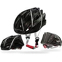 Casco da ciclismo bici da strada casco di sicurezza 25Vent speciale per unisex protezione di sicurezza (57–62cm), nero