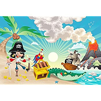 papier peint photo enfants papier peint pirates le 250 x 170 cm chambre sticker mural frise. Black Bedroom Furniture Sets. Home Design Ideas