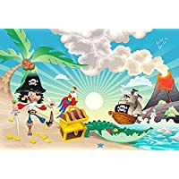 Fototapete Kinder Tapete PIRATEN INSEL 250x170cm Kinderzimmer Wandtatoo Bordüre children room wallpaper wall mural border wall tatoo