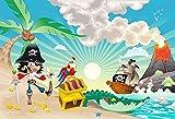 Fototapete Kinder Tapete PIRATEN INSEL 250x170cm Kinderzimmer Wandtatoo Bordüre children room wallpaper wall mural border wall tatoo