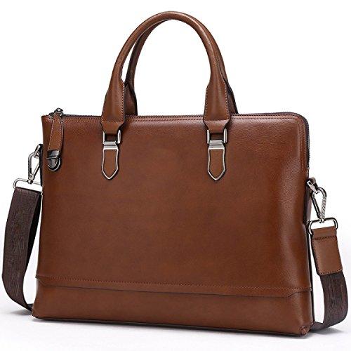 Männer Business Bunny Cowboy Handtasche Umhängetasche Messenger Bag Männliche Tasche WineRed