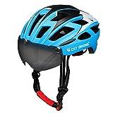 ICOCOPRO Bike Helm mit Abnehmbaren Magnet Visier Shield Brillen & Pads, Verstellbare Fahrradhelm für Männer Frauen CPSC Sicherheit Zertifiziert (5 Farben) schwarz/rot/gelb/blau/grün