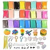 KidsHobby® 24 Color Air Dry Clay Modelado Magic Polymer Clay Slime Relieve de Estrés Juguetes Juguetes Educativos Regalo de Navidad para Niños Niños