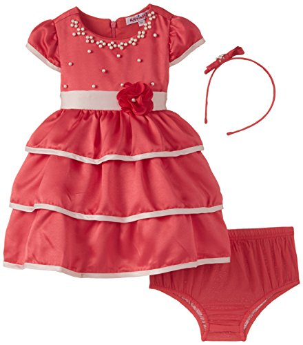 nauti nati Girl's Party and Evening Dress (NAW14-158_Coral_4y)