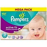 Pampers Active Fit Windeln, Gr. 3, Mega-Pack mit 84-Stück