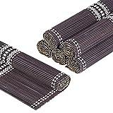 LOVECASA, Set de Table en Bambou 6 Pcs, Napperons Lavable, Antidérapant, Tapis de...