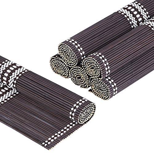 LOVECASA Tischsets aus Bambus, 6er Set