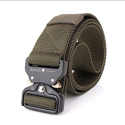 OWIKAR Cinturón de cintura táctico para hombre ajustable Cintura de nylon militar...