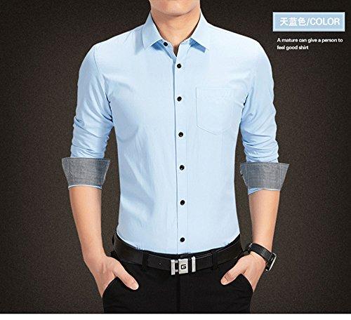 Sunshey Herren Businesshemd Langarmhemd Slim Fit mit Langarm in weiß,  schwarz,weinrot, blau ...