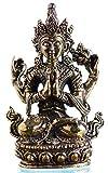 Chenrezig tibetischer Buddha und Schutzheiliger Tibets 4,5 cm hoch aus Messing Figur Handarbeit aus Indien