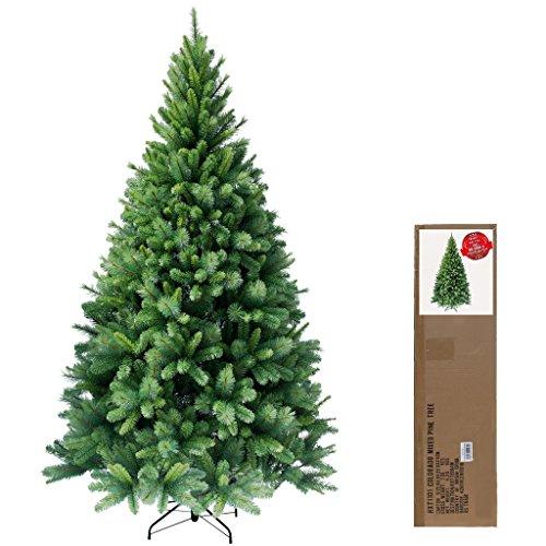 RS Trade® 120 cm ca. 446 Spitzen hochwertiger künstlicher Weihnachtsbaum mit Metallständer, Minutenschneller Aufbau mit Klappsystem, schwer entflammbar, HXT 1101