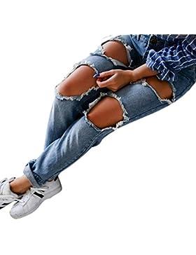 Pantalones en Trapos - Rcool Mujeres Denim Skinny Ripped Pants Alta Cintura Stretch Vaquero Slim Pencil Pantalones
