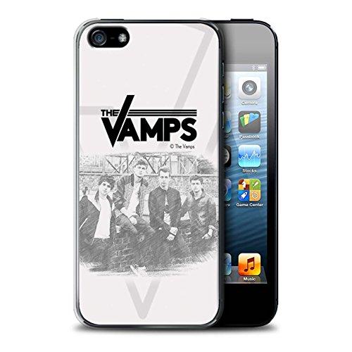 Officiel The Vamps Coque / Etui pour Apple iPhone 5/5S / Pack 6pcs Design / The Vamps Séance Photo Collection Esquisser