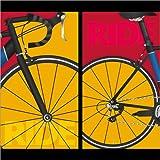 Poster 70 x 70 cm: Pop Art Ride von Editors Choice - Hochwertiger Kunstdruck, Kunstposter