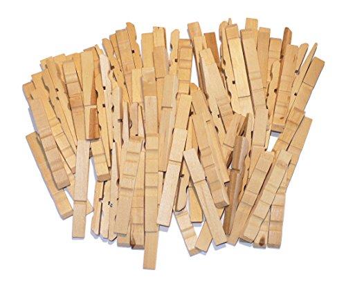 Preisvergleich Produktbild FEIHOFF sarl Basteln - Holz - Halbe Wäscheklammern - Natur - Gr: 72/10/6 mm - ca.100st. - (1x1Set)