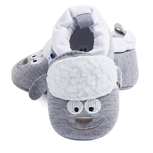 Zapatos de bebé, niño Chico niña bebé Zapatos Blandos Fring Suave Suela de Calzado Antideslizante...
