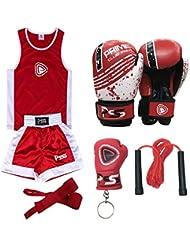 Prime Kids Boxing Uniform Set of 5 Pieces Boxing Uniform + Boxing Wrap + Boxing Gloves 1004 4-OZ