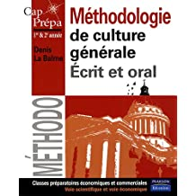 Méthodologie de culture générale: Ecrit et oral