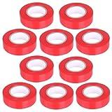 10 Stück PVC Isolierband Klebeband 10 Meter lang 15 mm breit -rot-