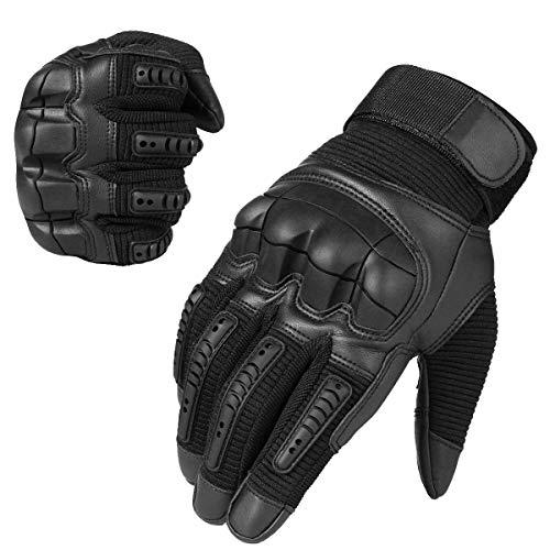 Neusky Herren Taktische Handschuhe Touchscreen Fahrrad Handschuhe Motorradhandschuhe MTB Handschuhe Mountainbike Handschuhe Outdoor Sport Handschuhe Ideal für Airsoft, Militär, Paintball, Jagd (S, Schwarz)