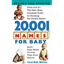 20,001 Names For Baby: Revised and Updated by Carol McD. Wallace (2004-02-24)