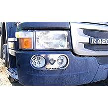 Unique acero inoxidable Luz Antiniebla Delantera decoraciones para Scania R Camión V8
