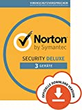Norton Security Deluxe Antivirus Software 2019/Zuverl�ssiger Virenschutz (Jahres-Abonnement) f�r bis zu 3 Ger�te/Download f�r Windows (u.a. Vista, 8 & 10), Mac, Android & iOS  Bild