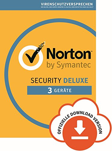 Norton Security Deluxe Antivirus Software 2018/Zuverlässiger Virenschutz (Jahres-Abonnement) für bis zu 3 Geräte/Download für Windows (u.a. Vista, 8 & 10), Mac, Android & iOS [Online Code]