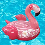 QG inflable gigante Ride-poder del flamenco de la nadada del anillo del flotador de tubo partido con un rápido Válvulas de verano al aire libre Raft Decoraciones Juguetes para Adultos y Niños