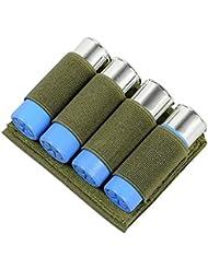 4 runde Schrotflinte Shell Bullet Halter Wargame taktische Klett-Munition Carrier Pouch OD