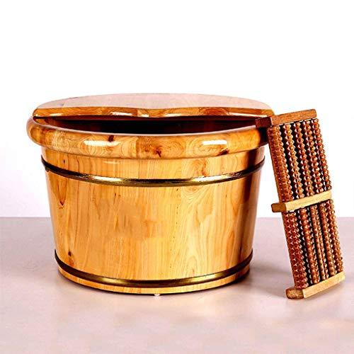 GG-Wooden barrel Baño pies Bañera hidromasaje Espesar