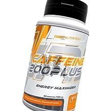 Cafeína 200 Plus 60caps / 700mg - Energía Maximizer Estimulante Fat Burner - Píldoras Cápsulas - Trec Nutrition